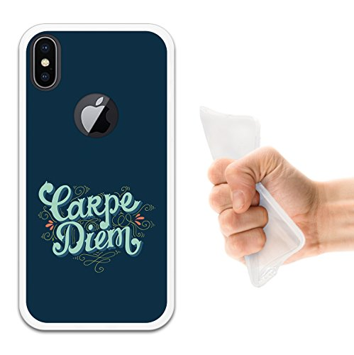 iPhone X Hülle, WoowCase Handyhülle Silikon für [ iPhone X ] Motivierungssatz - Impossible Handytasche Handy Cover Case Schutzhülle Flexible TPU - Transparent Housse Gel iPhone X Transparent D0338