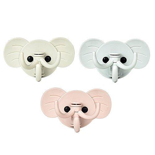 newlemo-juego-de-3-auto-adhesivo-gancho-decorativos-ganchos-pared-elefante