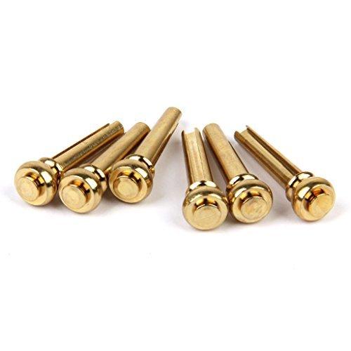 Set 6pcs Dübel-Kunststoffschienen Ersatzteile für Akustikgitarre–Farbe Gold