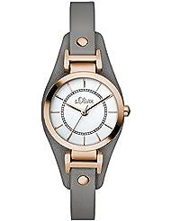 s.Oliver Damen-Armbanduhr XS Analog Quarz Leder SO-2963-LQ