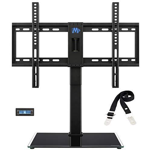 Mounting Dream TV Standfuss Schwenkbar Höhenverstellbar TV Ständer, Passend für die Meisten 42-60 Zoll LED, LCD, OLED und Plasma TVs mit Max VESA 600x400mm bis zu 45 kg, Kippschutzriemen Enthalten
