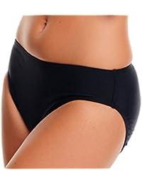 1003-f2592 Slip de bikini élégante Noir