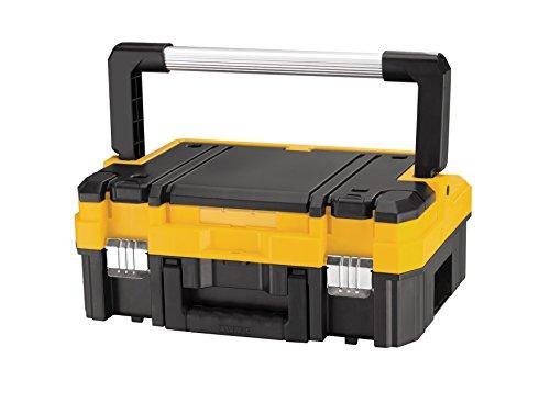 DeWalt Tstak I Transportbox / stabelbare Werkzeugbox (kombinierbar mit anderen Tstak-Boxen, sichere Verwahrung von Elektrowerkzeugen und Handwerkzeugen), DWST1-70704