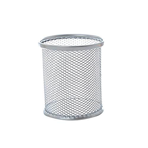 Xinlie/® Portapenne in Rete Penne in Metallo Portapenne Rotondo Portapenne di Metallo Portapenne di Maglia in Metallo nero Portaoggetti Organizer Portapenne per Ufficio Domestiche in Ordine 2PCS