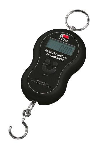 DAM Elektronische Waage, Fischwaage, Bis 40 kg, Umschaltbar kg/lbs und Tara-Funktion, Mit Batterie