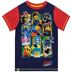 Lego Movie Camiseta de Manga Corta para niños La Lego película Azul 6-7 Años