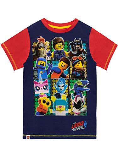 Lego Movie Camiseta de Manga Corta para niños La Lego película Azul 8-9 Años