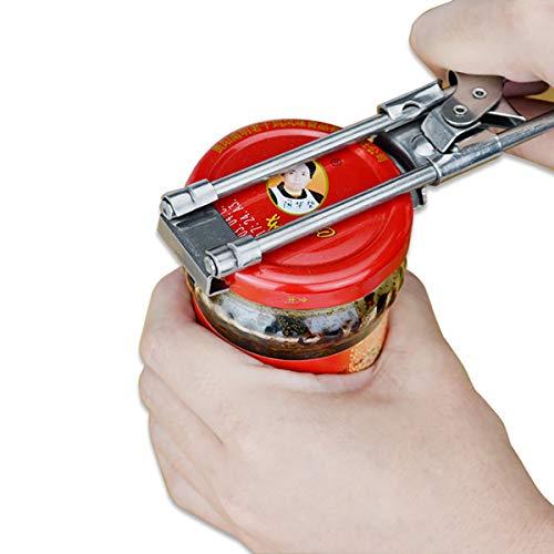 ZUEN Edelstahl-Opener, der anpassbar ist, kann Bottle Jar Opener Twist Opening Tool Antislip Cap Screw Opener