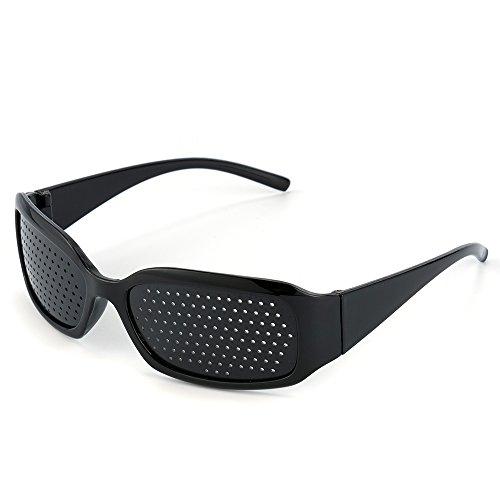 Green House Anteojos Gafas Reticulares Agujeros Lectura vidrios del Agujero de Alfiler, Anti-Fatiga, la Prevención de la Miopía Color Negro