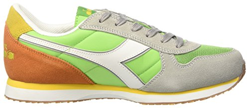 Diadora Herren K-Run Ii Sneaker Low Hals, Dark Blue/Ferrari Red Grün (Verde Vivace/arancio Pop)