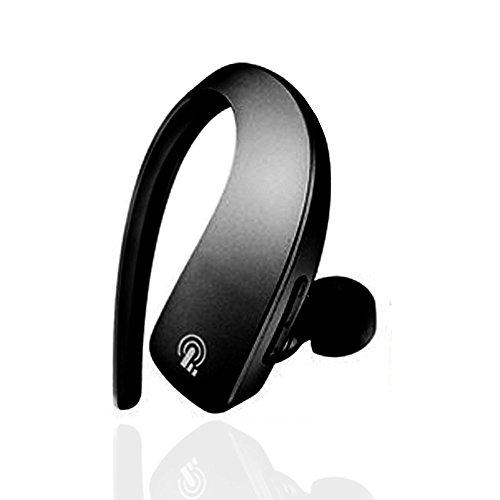 Jieyida Auricolare Bluetooth 4.1 Cuffia Stereo Sport in ear con Microfono per Telefoni Cellulari di iOS e Android iPhone Samsung e Altri Dispositivi come iPad Tablet Computer Nero