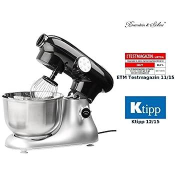 Amazon.de: Rosenstein & Söhne Knetmaschine: Küchenmaschine KM-6618 ...