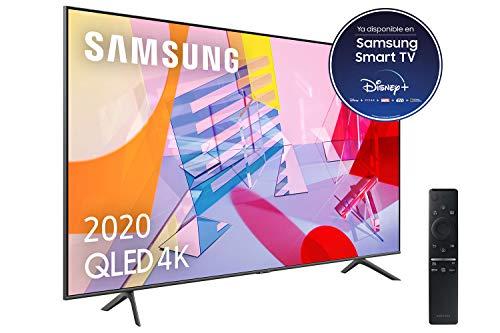 Oferta de Samsung QLED 4K 2020 43Q60T - Smart TV de 43 con Resolución 4K UHD, con Alexa integrada, Inteligencia Artificial 4K Wide Viewing Angle, Sonido Inteligente, One Remote Control