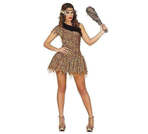 Steinzeit Leoparden Kostüm für Damen Gr. S-L, Größe:L