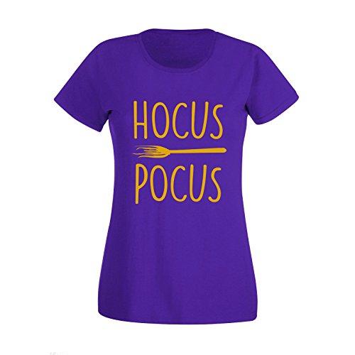 New Women's Haloween Costume Hocus Pocus Witch T Shirt Top Tee (Large) Purple (Womens Haloween Kostüme)