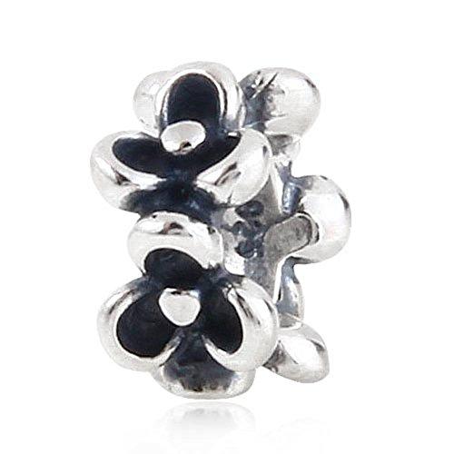Soulbead-distanziatori a forma di fiore, in argento sterling 925, con perline a forma di braccialetto stile europeo