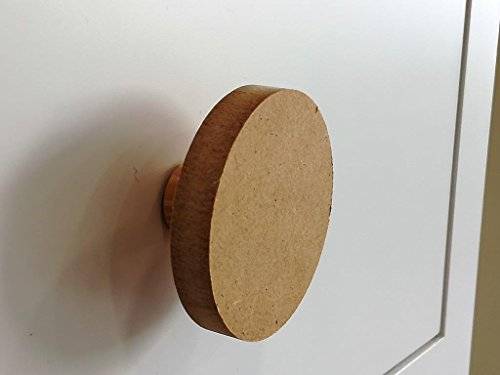 greca Pomos Circulo DM. (6 Unidades). En Crudo, para Pintar. Decoración y Manualidades. Medidas: 6 * 6 * 3 cms.
