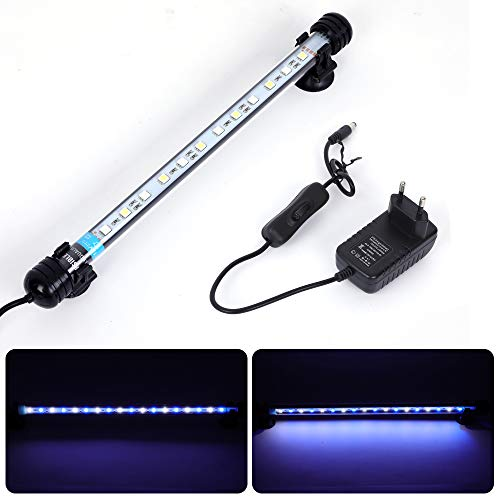 MLJ Acuario LED Iluminación, Iluminación LED para Acuarios Plantados Lámpara LED para Peceras Resistente...