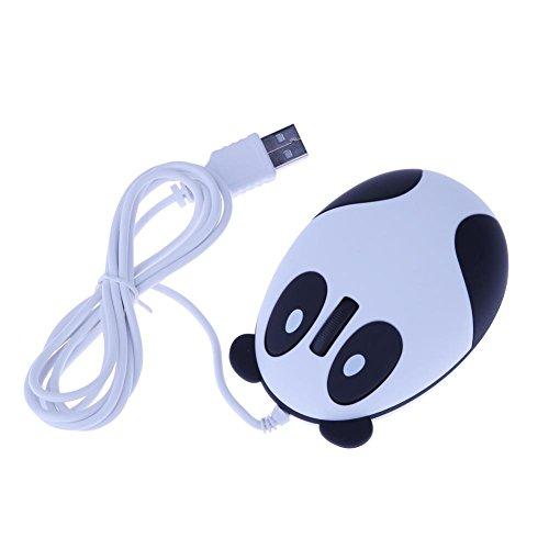 rt Form Panda Mignon Maus Kabel Verwendung für Laptops von Büro Große ()