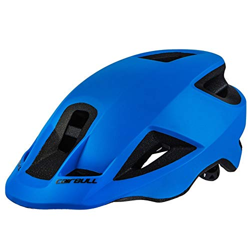 LMHTKMS Integral Geformte Fahrradhelm Frauen Fahrrad Schutzhelm Männer Straße Berg MTB Helm 55-59Cm, Blau