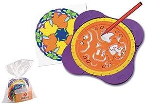 Quercetti, Spirogiro Mandala Bolsa 4 Piezas Juguetes para apilar y Encajar (AJ 1)