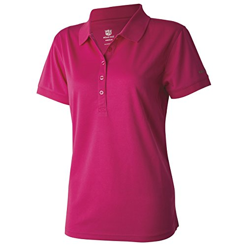 Wilson Staff Ladies Authentic Polo-Shirt Magenta lila Grösse S - Authentic Polo-shirts
