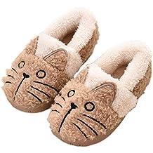 ba5c7814bd2e8 Zapatillas de Estar por Casa para Niñas Niños Invierno Zapatillas Interior  Casa Caliente Pantuflas Suave Algodón