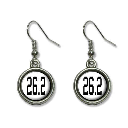 26,2Marathon–Laufen Joggen Neuheit Dangling baumeln Drop Charm-Ohrringe