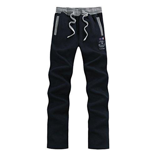 WTUS Pantaloni Sportivi da Uomo grigio, Molto Caldi Blu
