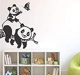 57x42cm Chinois Panda Mère Autocollant Bébé Garçon Fille Chambre Des Enfants Chambre Bébé Vinyle Sticker Mural Art Déco Autocollant