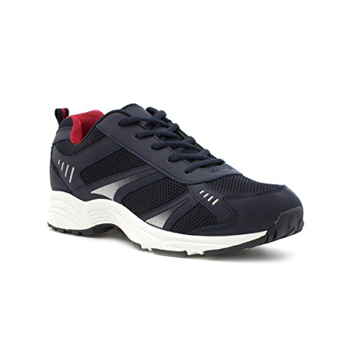 Tick Mens Mesh Lace Up Trainer in Navy - Size 9 UK - Blue