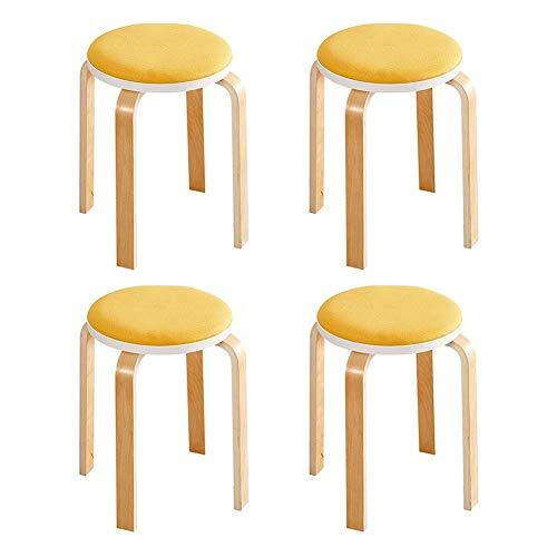 Birke-set Schreibtisch (YYHSND Hocker Massivholz Esshocker Stapelhocker Kammhocker 2X32X45cm4 Set Stuhl (Color : T14))