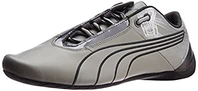 Puma Men's Future Cat S1 Atomisity Limestone Gray Leather Running Shoes - 13UK/India (48EU)