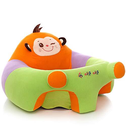 Yeying123 Coussin de bébé siège de Soutien en Peluche bébé Doux Sofa Nourrisson bébé apprenant à siéger Chaise siège Dinant Chaise Coussin,Monkey,L