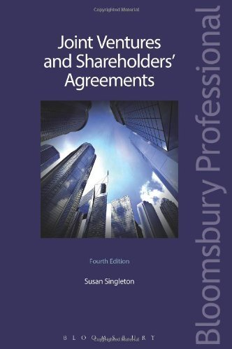 Joint Ventures and Shareholders' Agreements by Susan Singleton (2013-09-18)