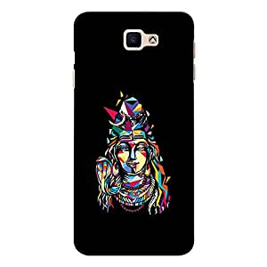 CrazyInk Premium 3D Back Cover for Samsung On Next - Shiva Multicolor Edges