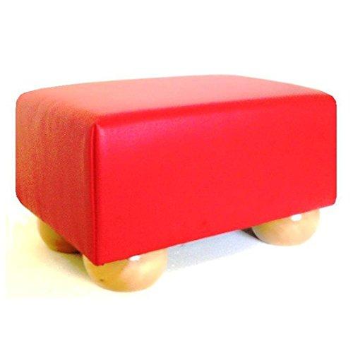 Footstools2u Handgefertigt kleinen Schemel in Luxus Rot Leder
