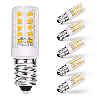 Albrillo E14 LED Bulb SES Light Bulb 3.5W, 40 Watt Equivalent, 3000K Warm White, 5 Pack
