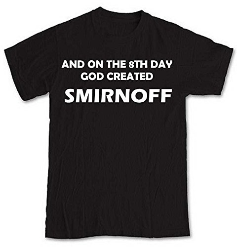 and-on-the-8th-day-god-created-smirnoff-black-short-sleeve-t-shirt-from-our-unique-t-shirt-range-an-