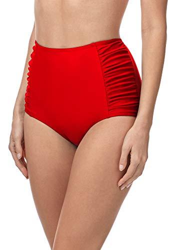 Merry Style Bragas de Bikini Parte de Abajo Bañador Corte Alto Mujer MS10-119 Rojo 4186, 38