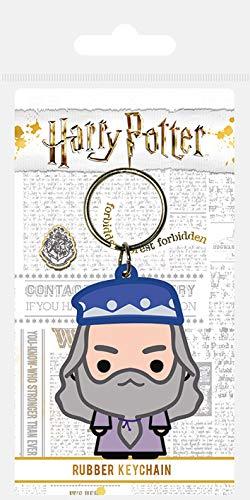 Harry Potter - Albus Dumbledore Chibi, Schlüsselanhänger aus Gummi, 4.5 x 6 cm