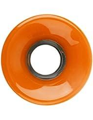 Gazechimp Monopatín de Rueda Longboard Skate Crucero PU Sólido de Alta Elasticidad Duradero - Naranja