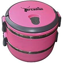Arcadian - Juego de cuencos para comida y agua de viaje, diseño compacto, calidad