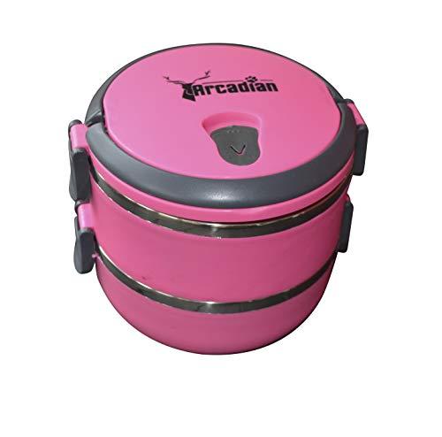 Arcadian - Juego de cuencos para comida y agua de viaje, diseño compacto, calidad alimentaria con cuenco superior hermético. Ideal para camping.