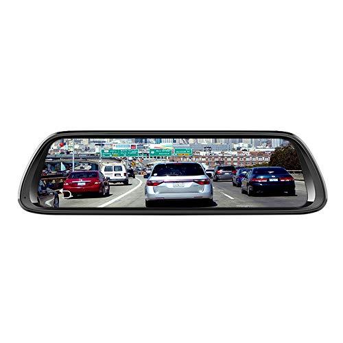 TOOGOO 10 Zoll Android 8.1 4G Rück Spiegel Auto Dvr Kamera GPS Navigator Musik WiFi Hd 1080P STR?mend Video Recorder +C10 32Gb Tf Karte (Spiegel-auto-video-recorder)