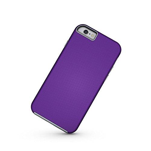 Wkae Ball Texture Anti-Rutsch-PC + TPU Schutzmaßnahmen zurück Fall für iPhone 6 Plus & 6s Plus ( Color : Magenta ) Purple