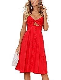 Kleid rot tiefer ausschnitt