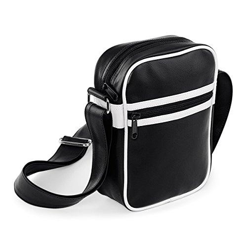 BagBase Umhangetasche Beutel Unisex echte Ruckseite uber Korpertasche 15x21x7cm 2L Freizeit Black/ White