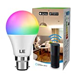 LE WiFi Smart Bulb B22, Work with Alexa, Google Assistant and IFTTT, 9W