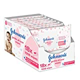 Johnson's Baby Gentle All Over Wipes Reinigungstücher, 18 x 561008 Stück